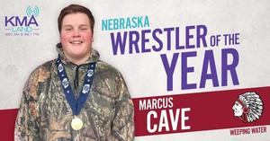 Cave named KMAland Nebraska Wrestler of the Year