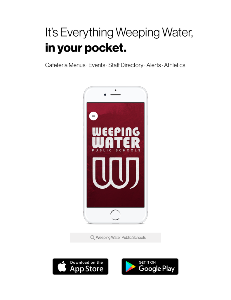 Weeping Water app poster