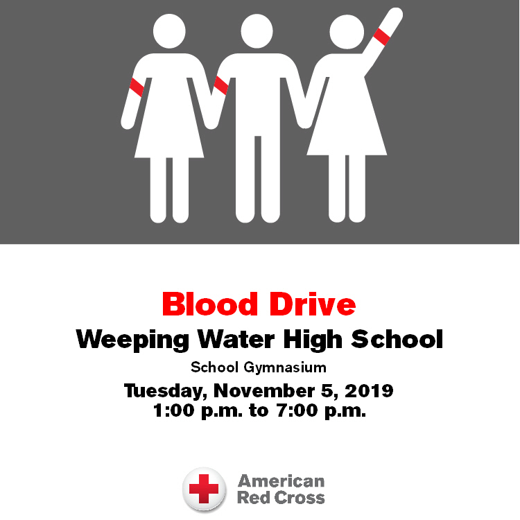 Blood Drive November 5 from 1-7 PM