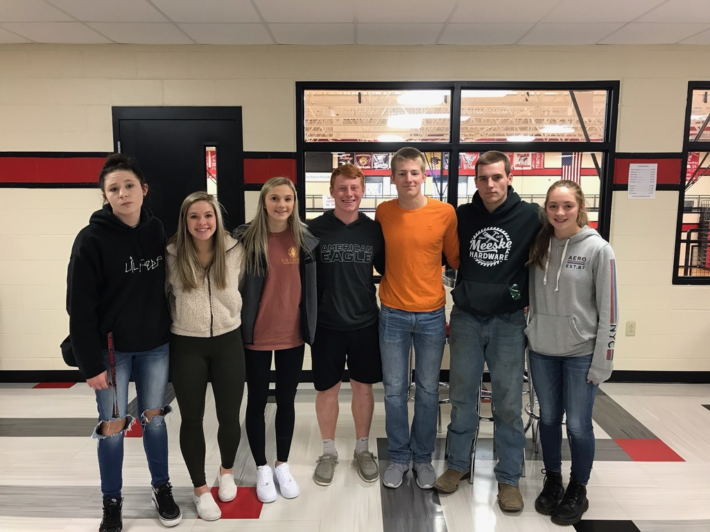 November students of the month are Brittney M, Reagan A, Kelsi V, Hunter M, Avery H, Lucas D & Treva W.