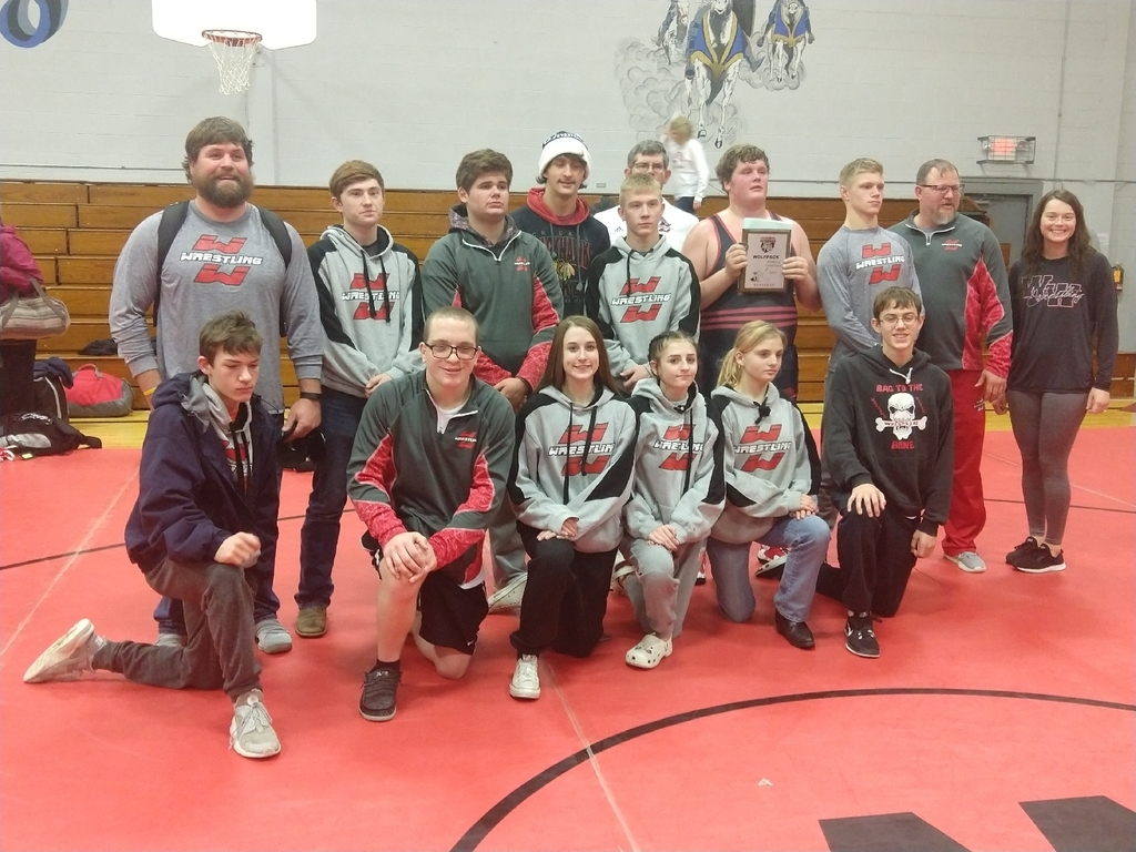 WW wrestlers 2nd place.