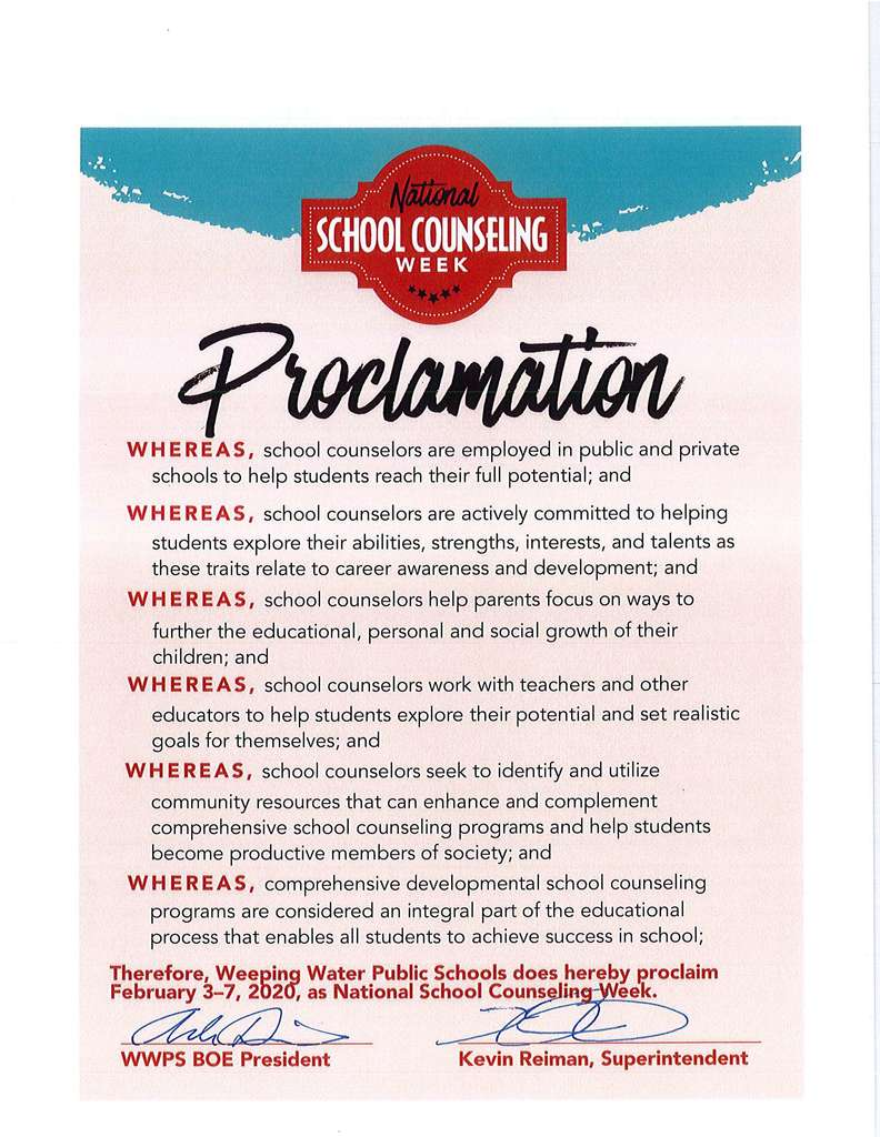 School Counseling Proclamation