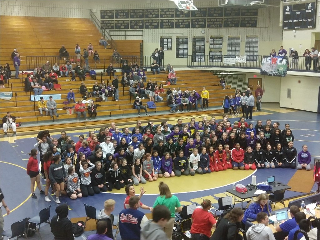 participants in girls state wrestling.