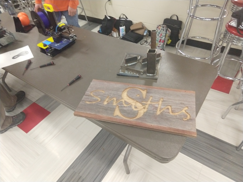 sign created on CNC