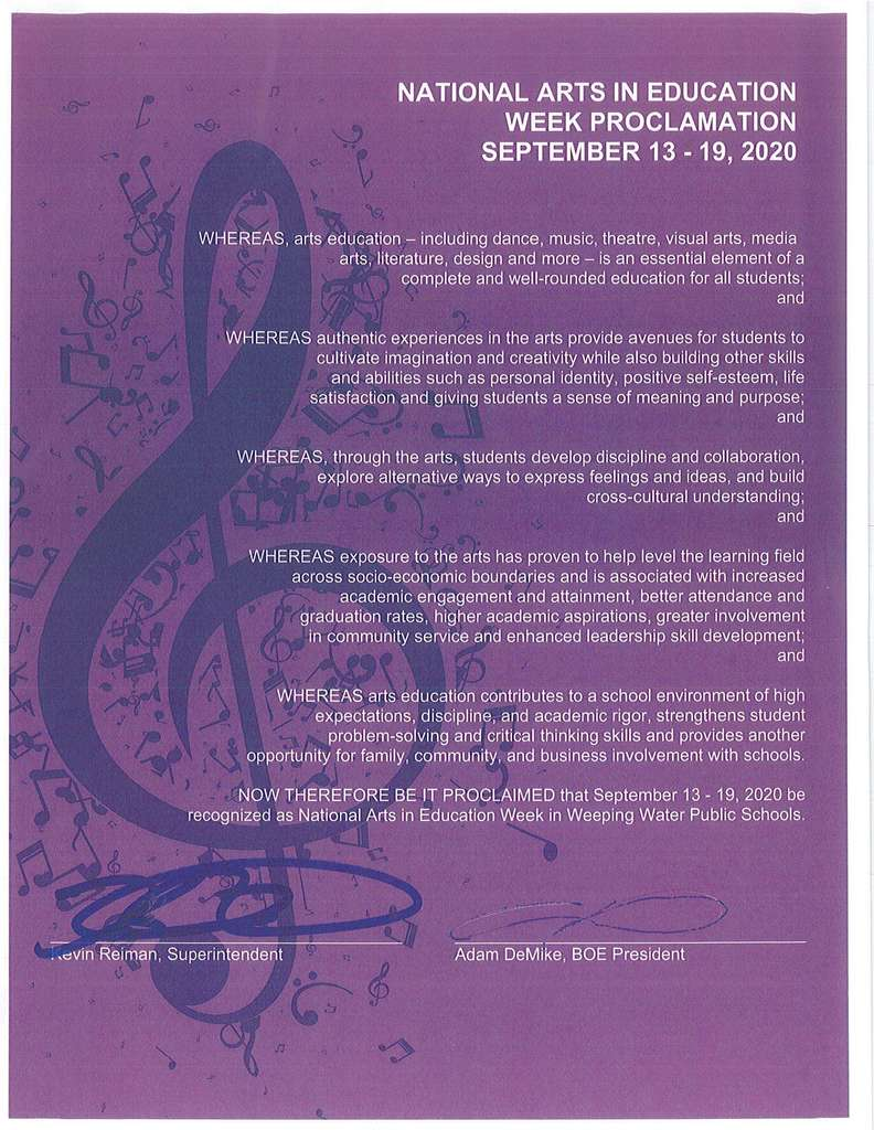 Music In Our Schools Proclamation